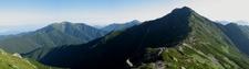 Mt . Kitadake And Mt . Senjogatake From Mt . Nakashirane