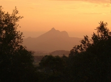Mount Warning At Sunset
