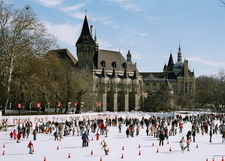The Skating Rink With The Vajdahunyad Castle