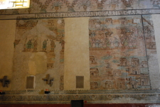 Portion Of Mural Work Inside The Church