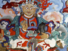 Mural Painting In The Hemis Monastery
