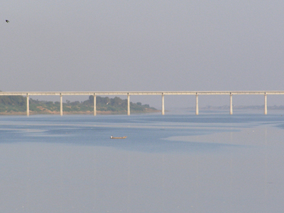 Bridge On Narmada River