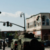 National Guard And State Police Secure  Main  Street