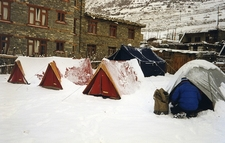 Nepal Annapurna - Manang Tents - View Camp
