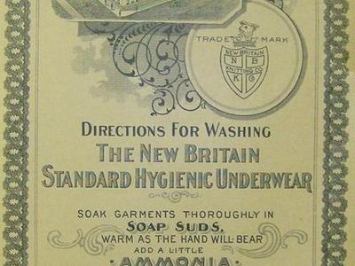 New Britain Underwear Washing Directions