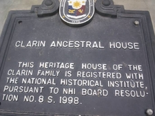Nhi Marker At The Clarin Ancestral House