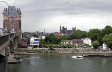 Nibelungen Bridge Over The Rhine At Worms