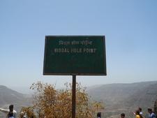 Niddal Hole Point Sign-Board - Mahabaleshwar - Maharashtra - India