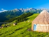 Nomadic Yurt With Tianshan Backdrop