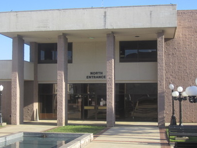 North Entrance To Bastrop City Hall Designed By Local Architect