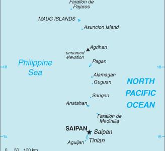 Northern  Mariana  Islands   C I A  W F B  Map