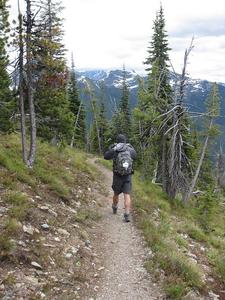 Numa Lookout Ridge Trail At Glacier - Montana - USA