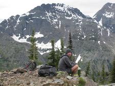 Numa Lookout Trail Hiker - Glacier - Montana - USA