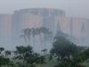 Sunrise View Of  Jatiyo Sangshad Bhaban