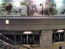 NE5 Clarke Quay MRT Station Interior