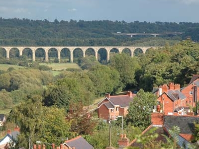 The Cefn Railway Viaduct Over The River Dee