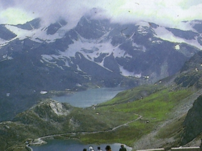 Lago Angel Seen From Colle Del Nivolet