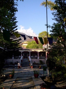 Norbulingka Institute With Dhauladhar Range In The Background