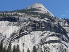 Looking Up At North Dome From The Valley
