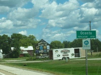Oconto Wisconsin Signs