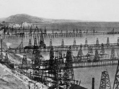 Oil Wells Just Offshore