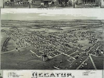 Old Map   Decatur   1 8 9 0