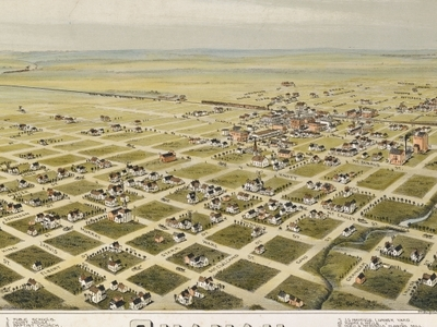 Old Map   Quanah   1 8 9 0