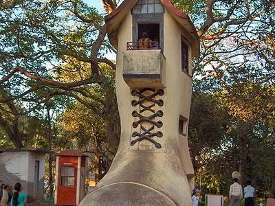 Old Womans Shoe In Kamala Nehru Park