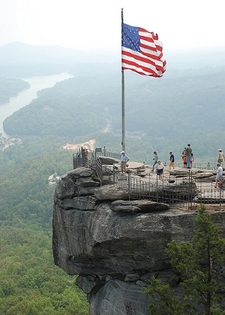 On Top Of Chimney Rock - North Carolina