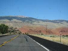 Open Road Through Big Horn Mountains