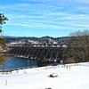 OR Bonneville Dam Winter View