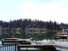 Oswego Lake Is In The Center Of Town.