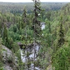 Oulanka River Flowing Through The Gorge - Oulanka Canyon - Lapland Finland