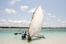 Outrigger Canoe In Kenya