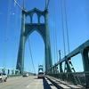 Over St. John's Bridge In Portland OR