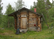 Wilderness Hut In Lemmenjoki National Park