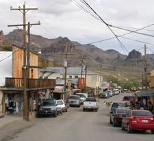 Oatman Highwayold Us 66. The Oatman Hotel Is The Adobe Building Center Left.