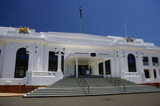 Old Parliament House Canberra Front Entrance