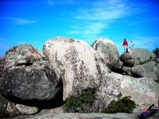 Rock Scramble Near The Summit