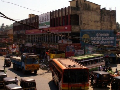 Ottapalam Town Bus Stand And Main Road