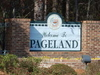 Pageland Welcome Sign