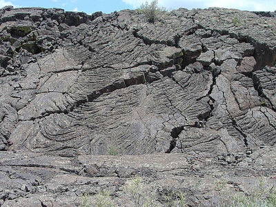 Pahoehoe Lava Flow In The El Malpais National Monument