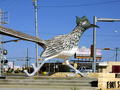 Paisano Pete Welcomes People Into Fort Stockton.