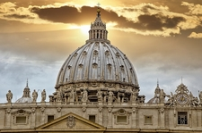 Palace Of The Vatican In Rome