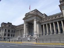 Palacio De Justicia Along Paseo De La Republica