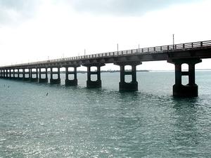 Pamban Rail Bridge Tijeras