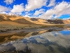 Pangong Mountain Range Reflecting In Lake