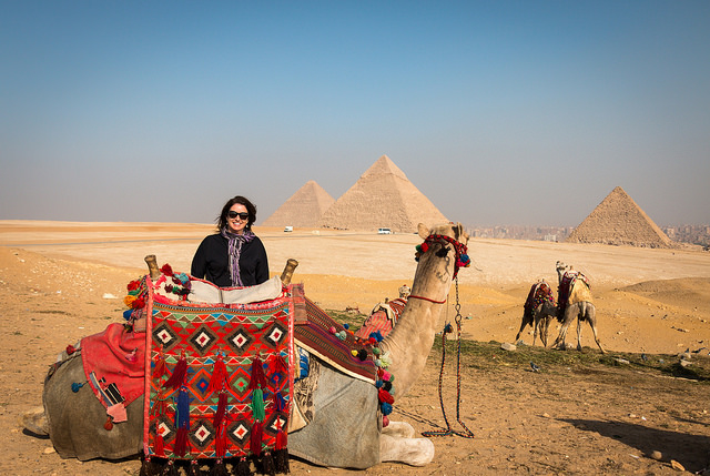 Giza Pyramids by Camel, Trip Photos