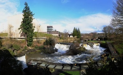 Panoramic View Of The Upper Falls Amp The Former Olympic Brewery