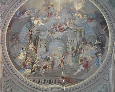 Papa St. Stephan Fresco, Pápa
